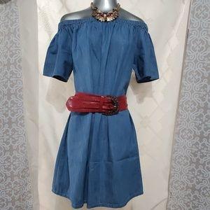 Merona Off The Shoulder Denim Dress